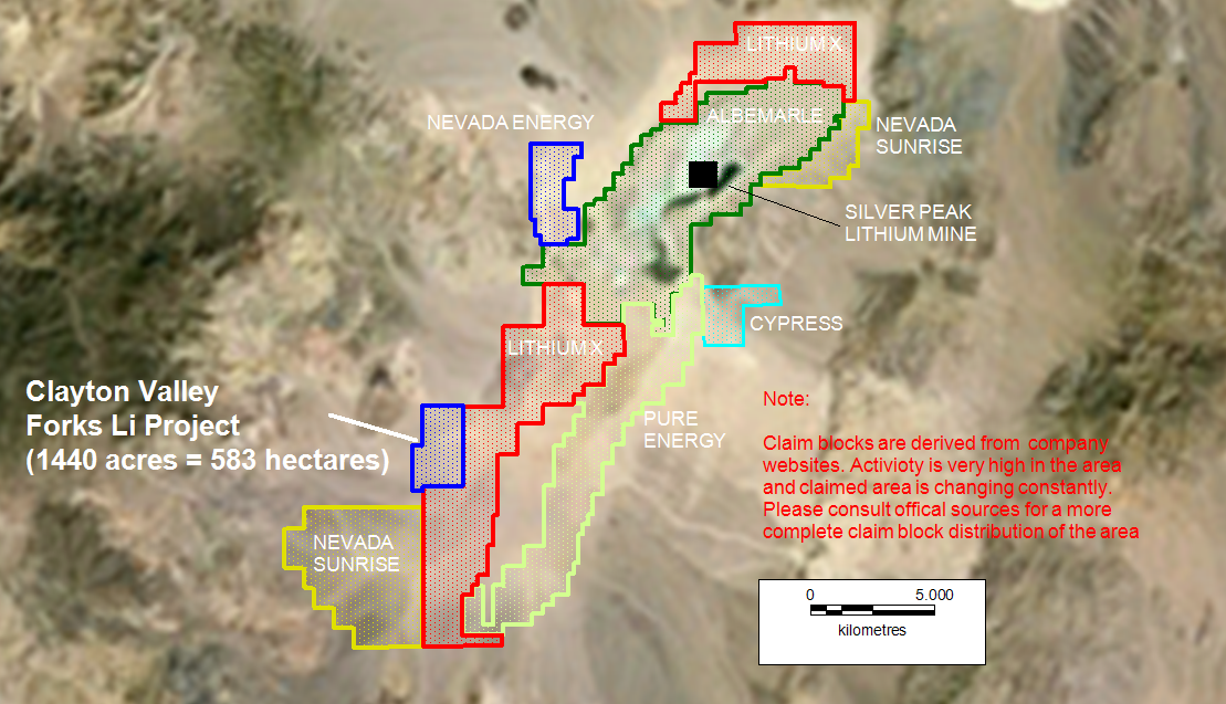 Image result for lithium mining nevada map